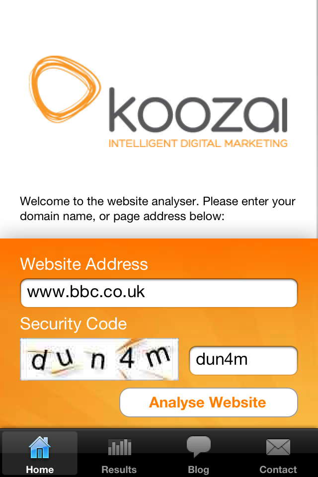 Koozai Website SEO Analyser