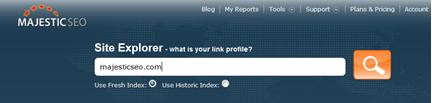Site Explorer Search Box