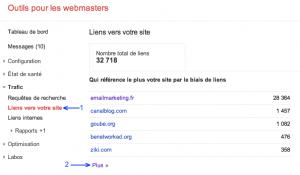Google Webmaster Tools : Téléchargez vos liens