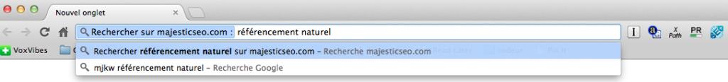 Utiliser Majestic SEO comme moteur de recherche