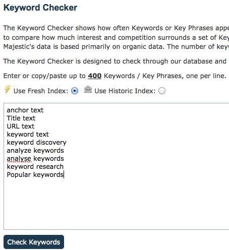 Bulk Keyword Checker