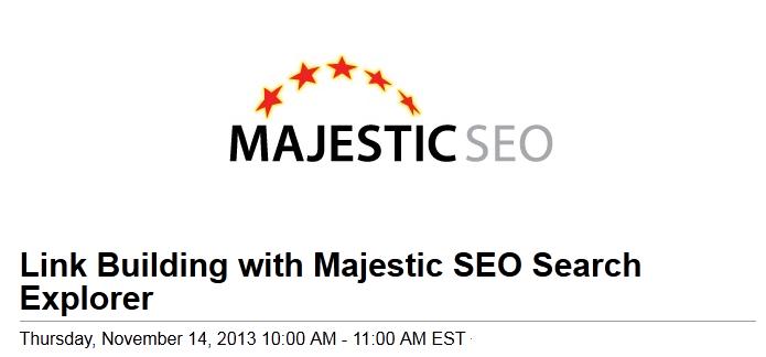 majestic webinar