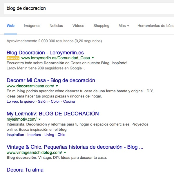 blog de decoracion