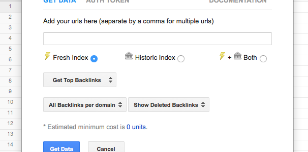 New Functionality Google Spreadsheet Integration Majestic Blog - Google spreadsheet