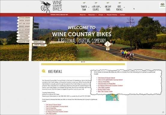 Wine Country Bikes