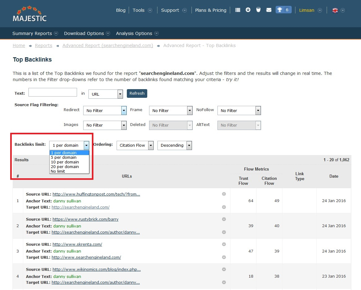 How To Get All Your Links for Specific Anchor Text -Majestic