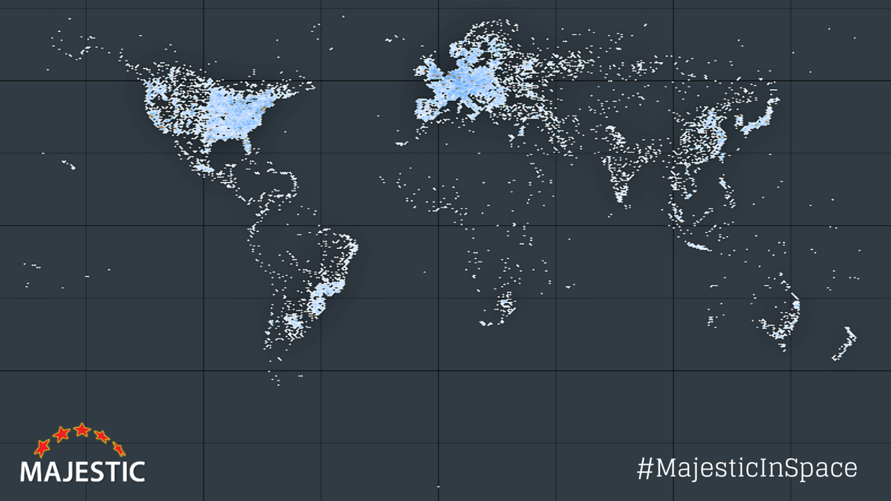 We plotted the web servers on the planet  Looks like the Internet