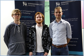 (The winning team of Crawlr at BCUHack)