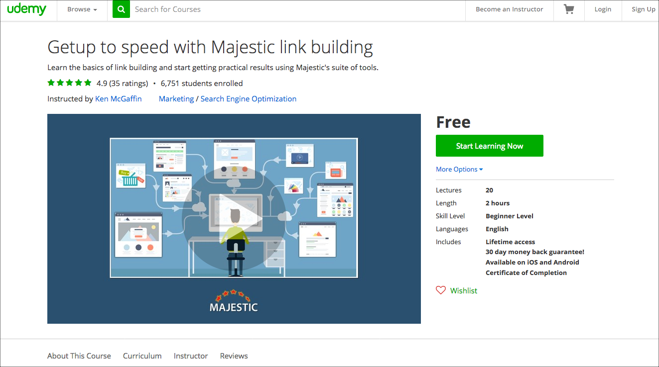 Majestic's 'Get up to speed' video course has been updated