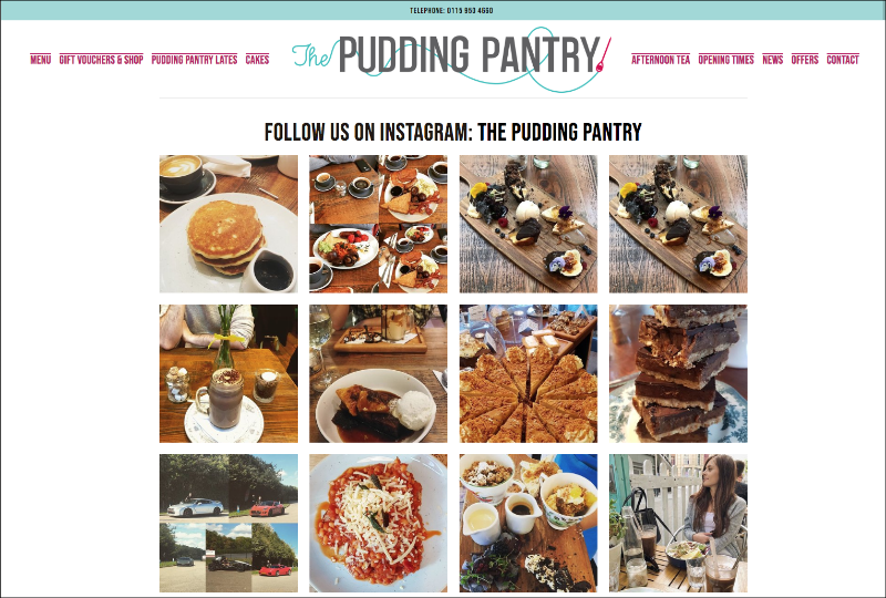 The Pudding Pantry Instagram