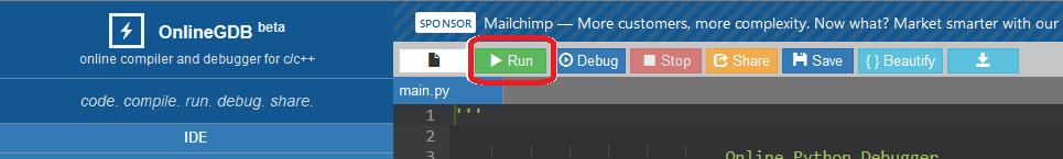 """OnlineGDB.com: mandare in esecuzione il programma """"Hello World"""" con Python"""