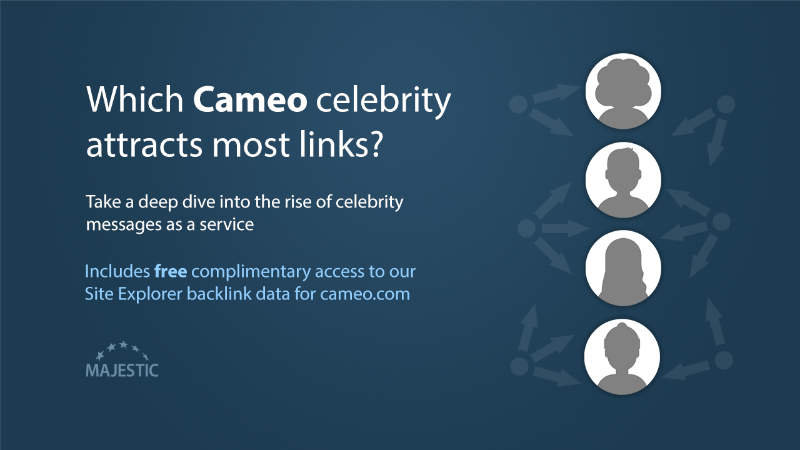 Which Cameo celebrity attracts most links?