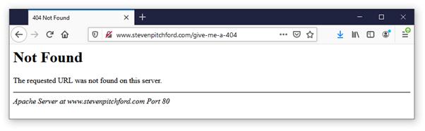 404 Error (Page not Found)